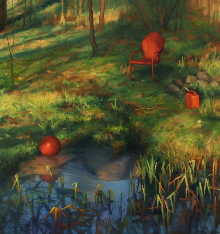Scott Prior, 'Backyard in Spring', 2013, Painting, Oil on panel, Somerville Manning Gallery