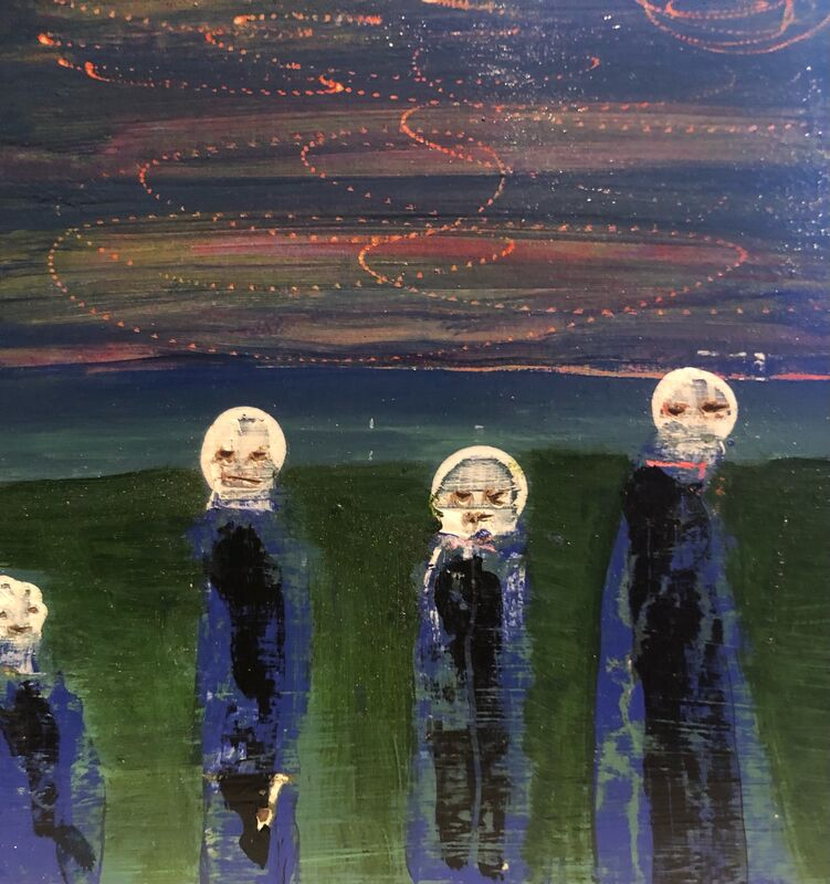 Nancy Larrew, 'Little Ghosts 9', 2021, Painting, Acrylic on wood, bG Gallery