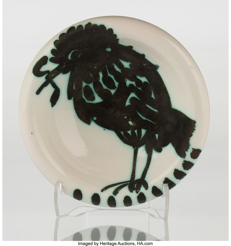 Pablo Picasso, 'Oiseau au ver (A./R. 172)', 1952, Other, White earthenware ceramic with handpainting, Heritage Auctions