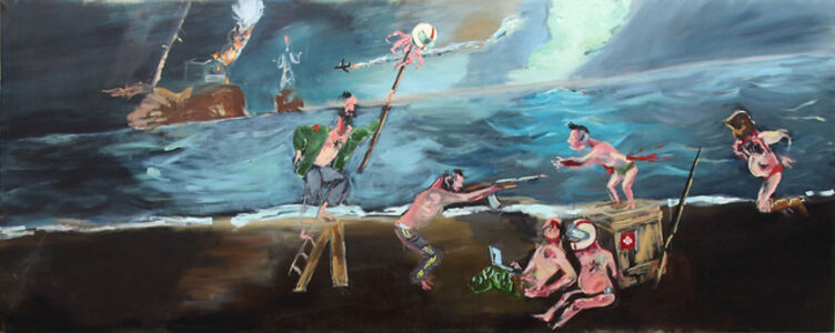 Aaron van Erp, 'Beach party of which a report will shortly be posted on the facebook page of the H.P. Lovecraft society.', 2013