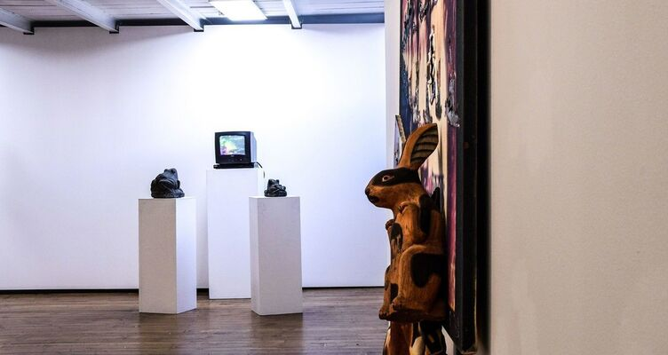 Nam June Paik THE UNTIMELINESS OF THE CONTEMPORARY, installation view
