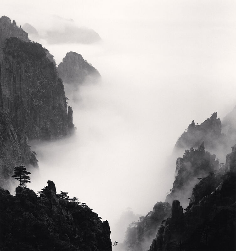 Michael Kenna, 'Huangshan Mountains, Study 8, Anhui, China', 2008, Photography, Sepia toned silver gelatin print, Ira Stehmann Fine Art Photography