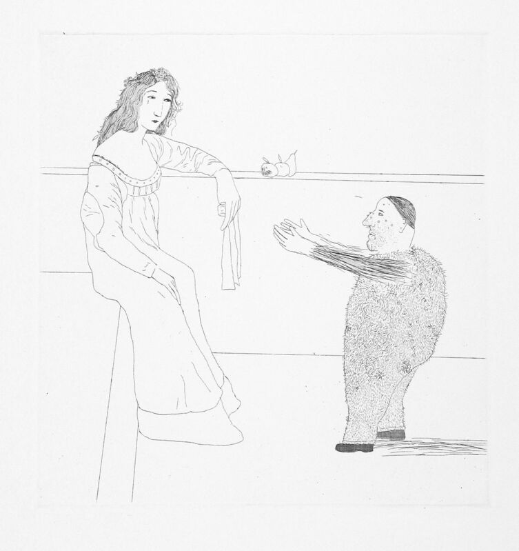 David Hockney, 'Pleading for the Child', 1969, Print, Aquatint and etching, Goldmark Gallery