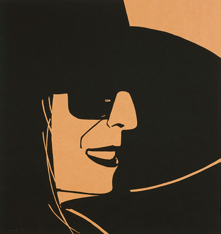 Alex Katz, 'Large Black Hat (Ada)', 2012, Print, Silkscreen on kraft paper, Galerie Schimming