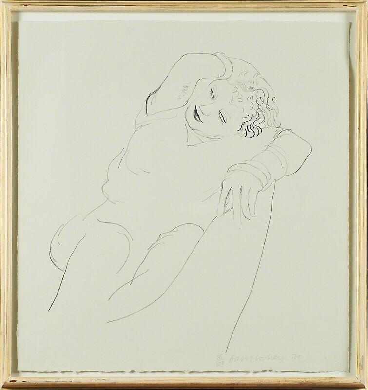 David Hockney, 'Celia Reclining', 1979, Print, Lithograph (framed), Rago/Wright