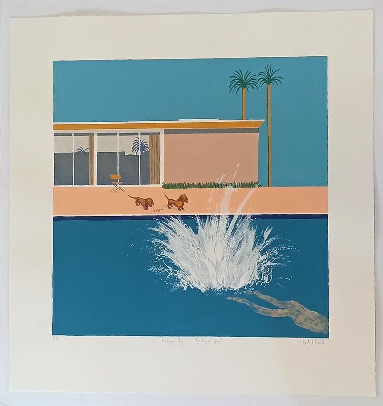 Mychael Barratt, 'Hockney's Dogs - The Biggest Splash', 2021, Print, Silkscreen print, Wychwood Art