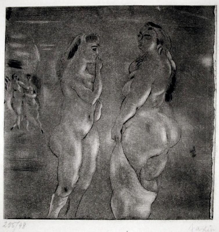 Jules Pascin, 'Comparaison (Nude Bathers)', 1929, Print, Etching and aquatint, Harris Schrank Fine Prints