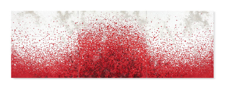 Yasmina Alaoui, 'Red and white trio landscape 1', 2017