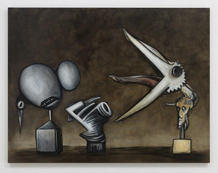 Alexandre Singh, 'Stone. Brass. Feathers.', 2019