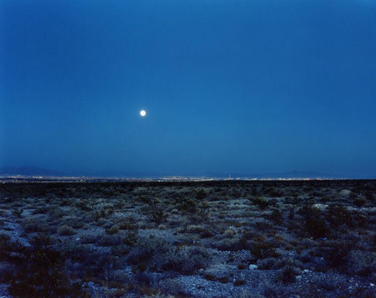 Robert Voit, 'Moonrise ove Las Vegas, Nevada, USA', 2006