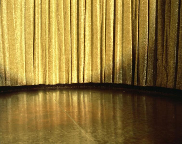 Lisa Kereszi, 'Gold Curtain, Resort in the Poconos, PA', 2004