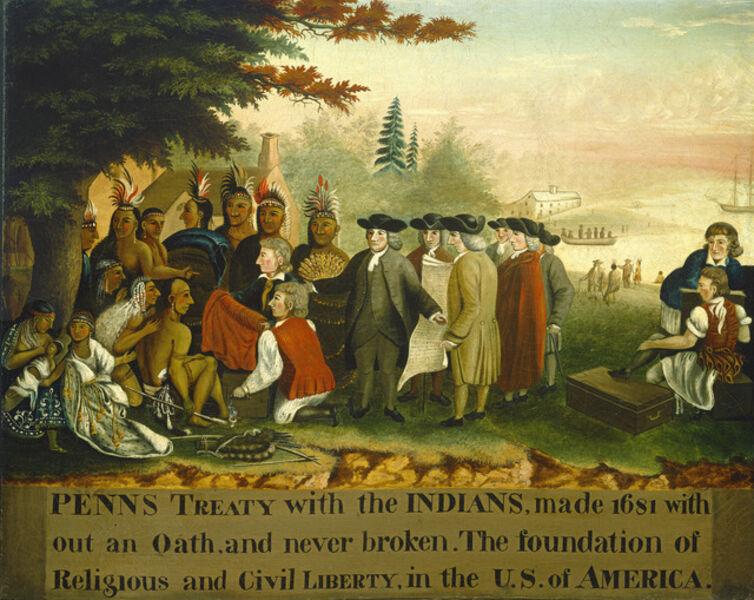 Edward Hicks, 'Penn's Treaty with the Indians', ca. 1840/1844