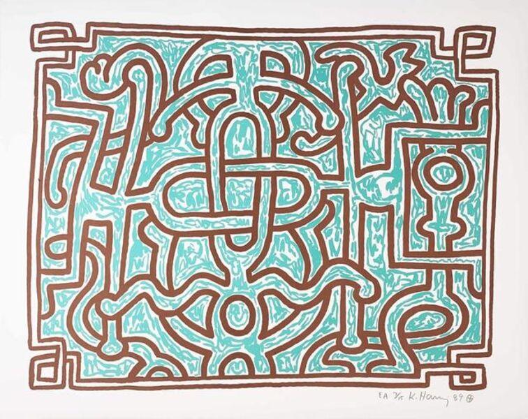 Keith Haring, 'Chocolate Buddha 5', 1989