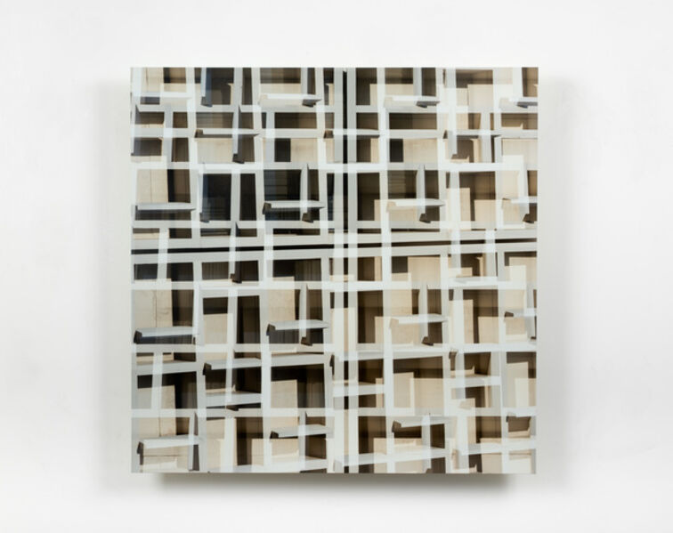 Adam Moskowitz, 'Counterform Grids in Pale Gold', 2019