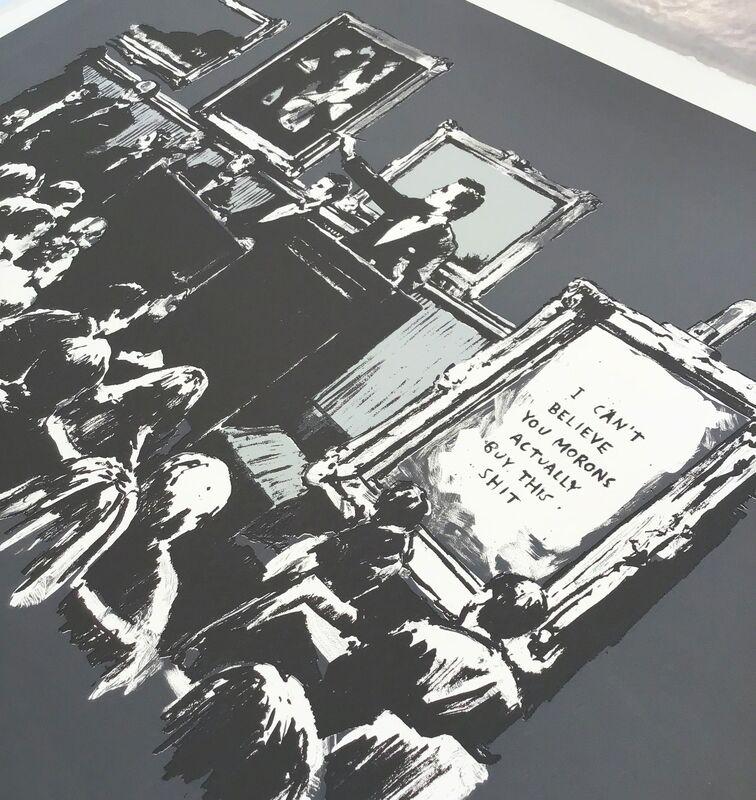 Banksy, 'Morons (Grey) AP - Signed', 2007, Print, Screen print on paper, Hang-Up Gallery