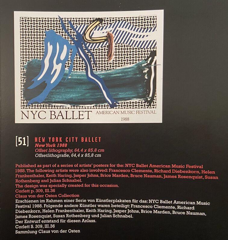 Roy Lichtenstein, 'Roy Lichtenstein, NYC Ballet, American Music Festival', 1988, Ephemera or Merchandise, Original Period Lithographic Poster, David Lawrence Gallery