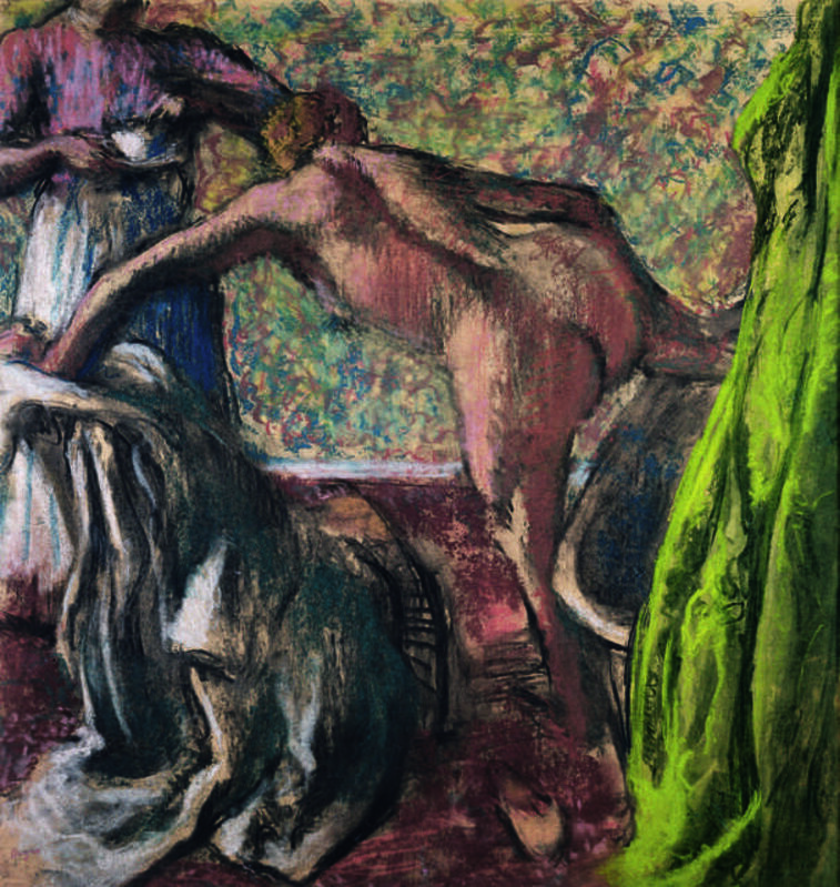 Edgar Degas, 'Le petit déjeuner après le bain (Le bain) (Breakfast after the Bath, The Bath)', ca. 1895–98, Drawing, Collage or other Work on Paper, Pastel on paper on cardboard, Fondation Beyeler