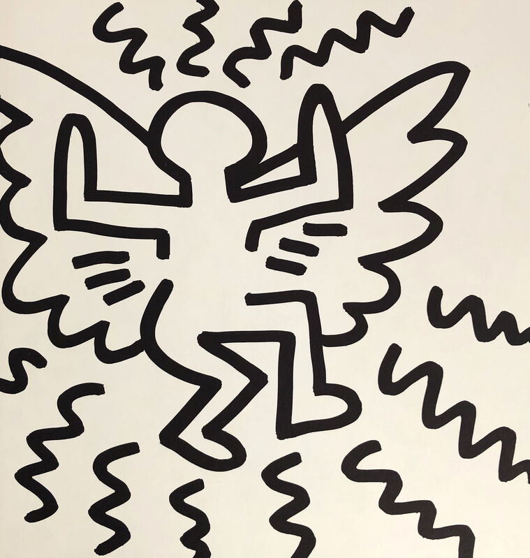 Keith Haring, 'Keith Haring (untitled) Flying Angel lithograph 1982', 1982, Print, Offset lithograph, Lot 180