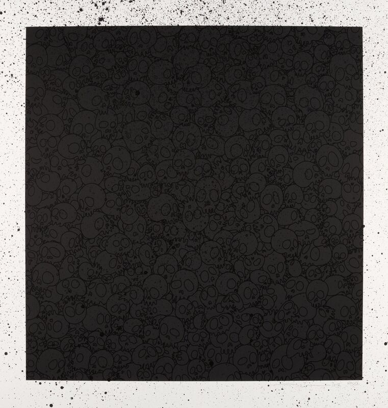 Takashi Murakami, 'Takashi Murakami for BLM: Black Skulls Square', 2020, Print, Silkscreen in colors with hand embellishments on paper, Heritage Auctions