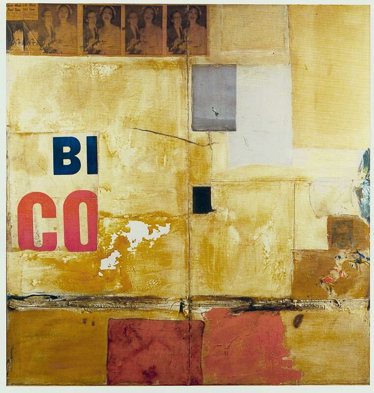 Robert Rauschenberg, 'Gloria', 1956, Mixed Media, Combine: oil, paper, fabric, newspaper, printed paper, and printed reproductions on canvas, Robert Rauschenberg Foundation