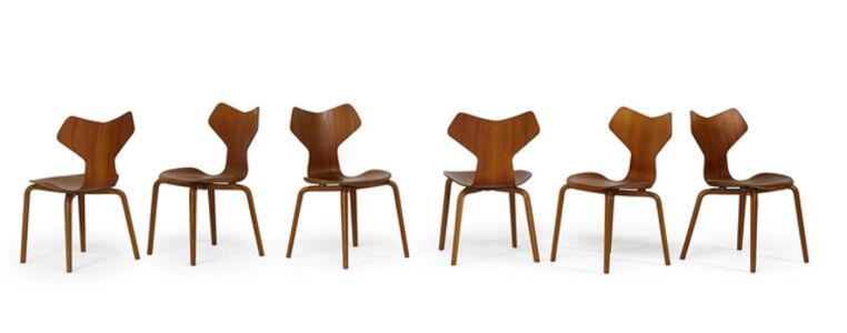 Arne Jacobsen, 'Six Grand Prix chairs', 1960s