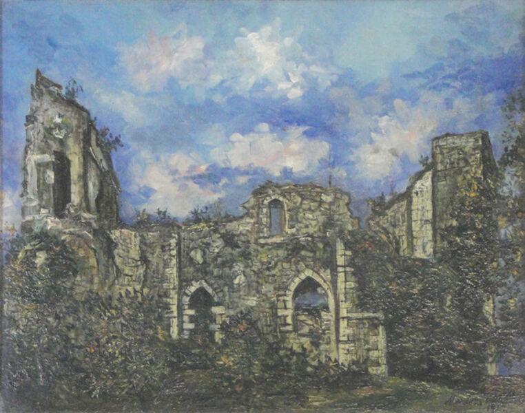Maurice Utrillo, 'Les ruines du Chateau de Chalucet (Haute-Vienne)', 1922