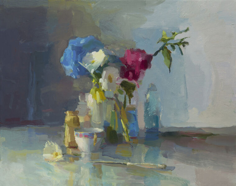 Christine Lafuente, 'Hydrangea, Daisies, and Knife', 2019