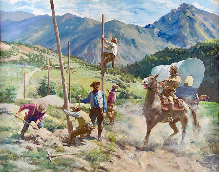 Harry Anderson, 'Talking Wires Take Over from the Pony Express ', 1966