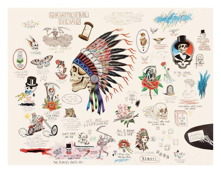 Wes Lang, 'Grateful Dead', 2016