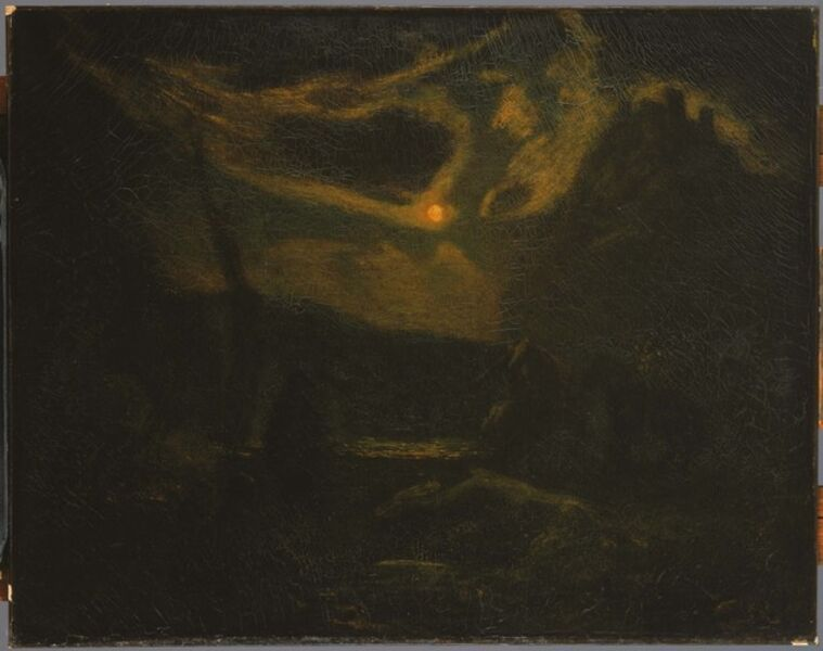Albert Pinkham Ryder, 'Macbeth and the Witches', After mid-1880s