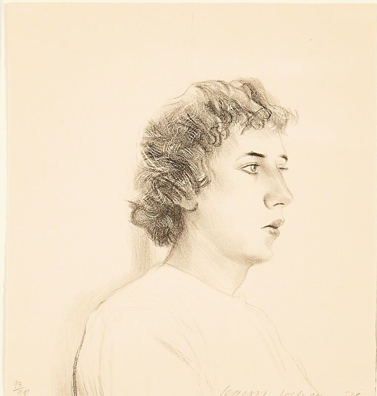 David Hockney, 'Friends, Small Head of Gregory', 1976, Print, Lithograph on Arches buff paper (framed), Rago/Wright