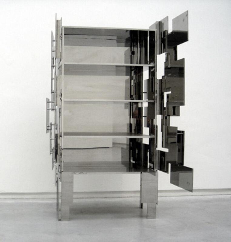 Mattia Bonetti, 'Cabinet 'Strata'', 2004, Design/Decorative Art, Stainless steel, David Gill Gallery