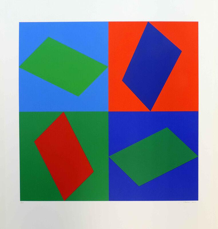 Geneviève Claisse, 'Hadron ', 1974, Print, Serigraphie - 15 colors on Fabriano Aqiareööe cardbpasrd Dosegmp 5. 300g/m2, Galerie La Ligne