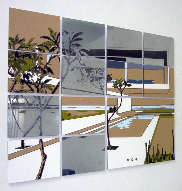 Guido Bagini, 'Technogreen #001', 2014, Mixed Media, Enamel on cardboard and zinc polished on dibond, The Flat - Massimo Carasi