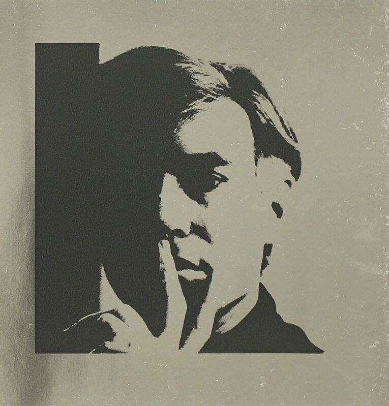 Andy Warhol, 'Andy Warhol Self Portrait on Silver Metallic Paper', 1988, Print, Lithograph, White Cross
