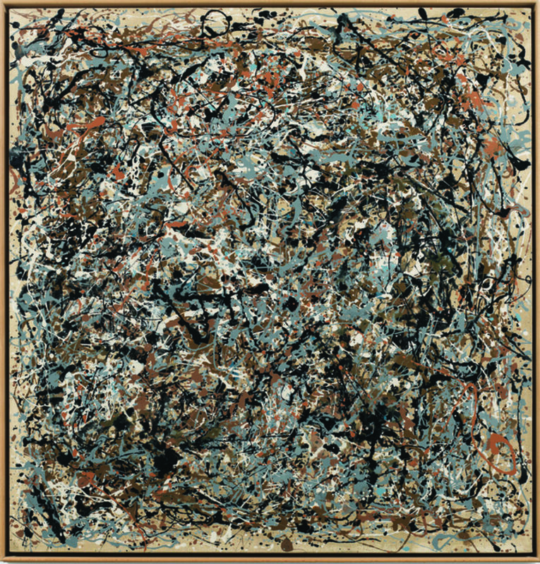 Art & Language, 'Portrait of V.I. Lenin in the Style of Jackson Pollock VII', 1980, Painting, Enamel on canvas mounted on board, Museum Dhondt-Dhaenens