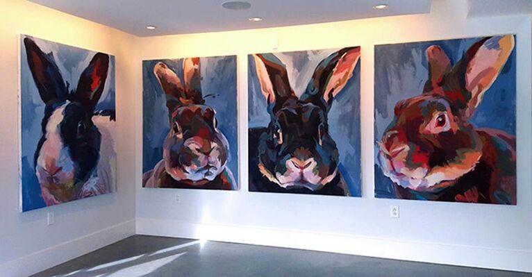 Jo Hay's Rabbitude, installation view