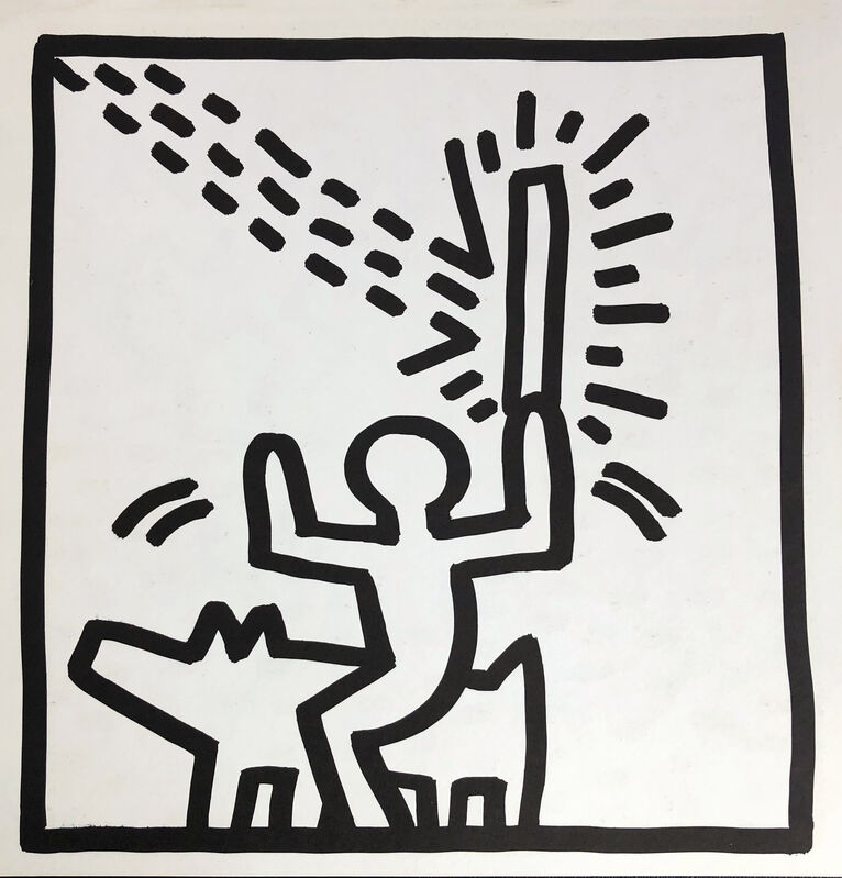 Keith Haring, 'Keith Haring (untitled) Laser Beam lithograph 1982', 1982, Print, Offset lithograph, Lot 180