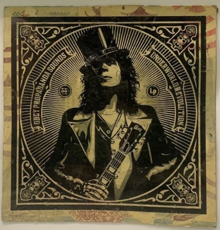 Shepard Fairey, 'Obey Propaganda Sounds', 2010, Mixed Media, Silkscreen and mixed media collage on paper, DIGARD AUCTION