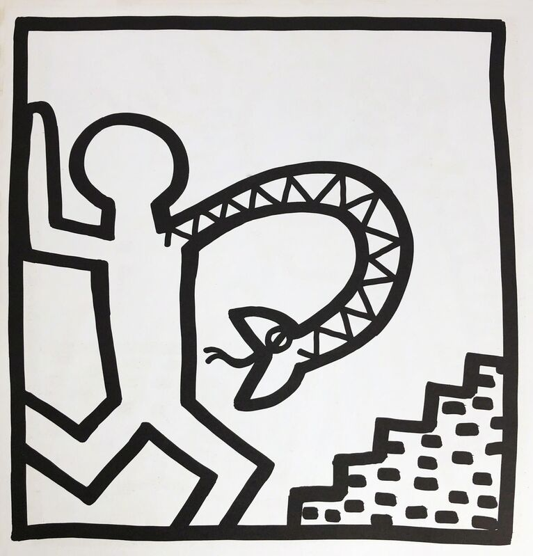 Keith Haring, 'Keith Haring lithograph 1982 (Keith Haring prints) ', 1982, Posters, Offset lithograph, Lot 180