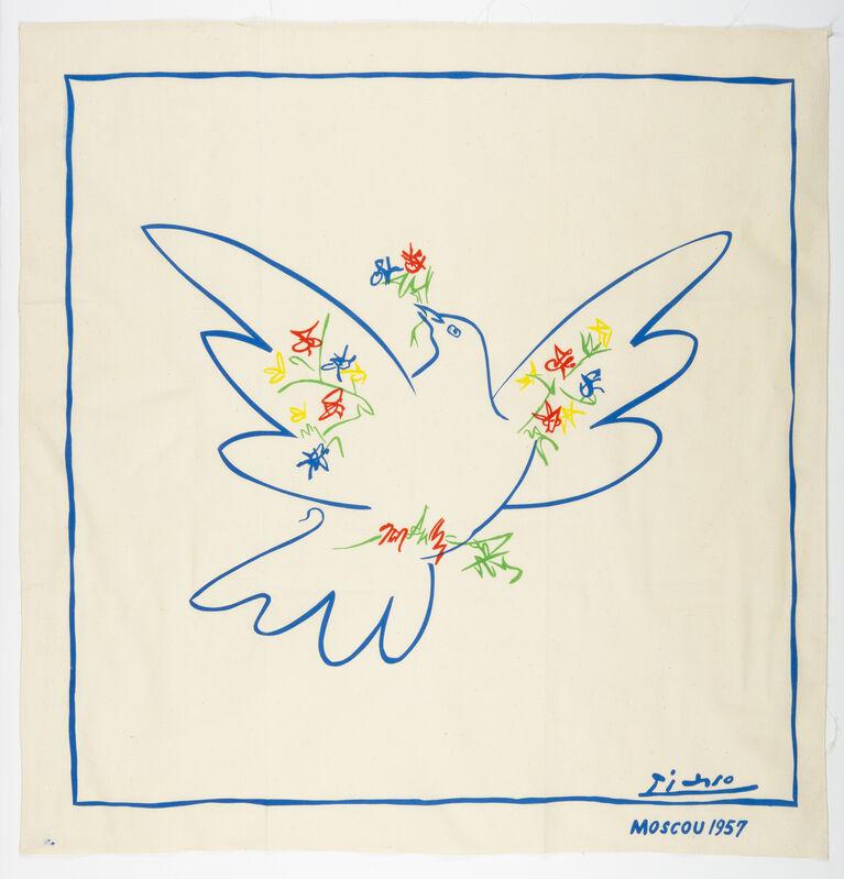 Pablo Picasso, 'Dove Of Peace / Colombe De La Paix', 1957, Textile Arts, Silkscreen on scarf, Gerrish Fine Art