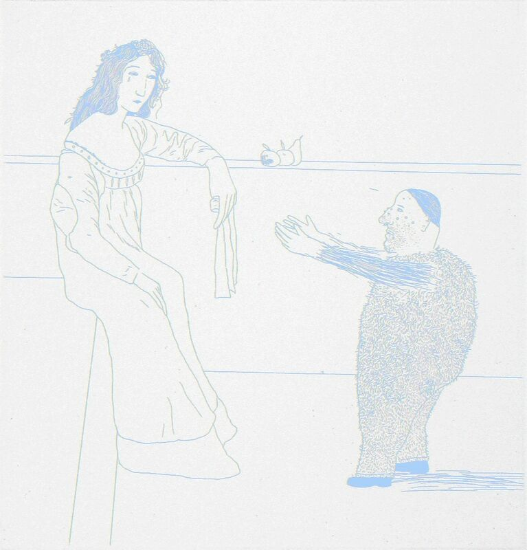 David Hockney, 'Pleading for the Child', 1969, Print, Etching and Aquatint, TAI Modern