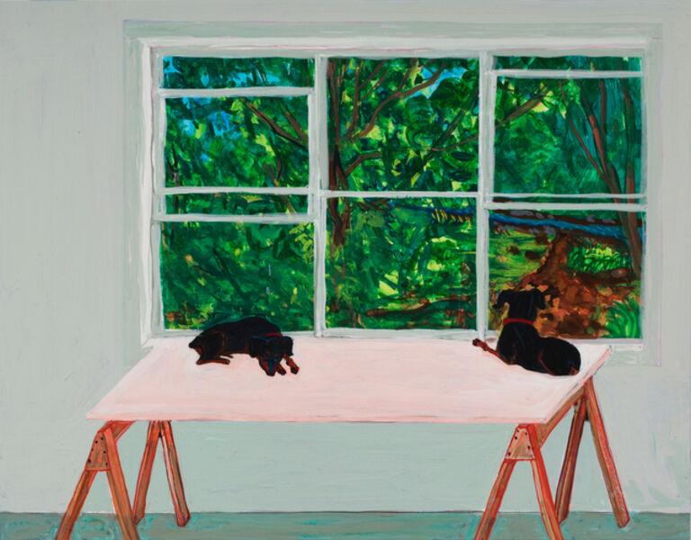 Sarah McEneaney, 'Double Mango', 2016