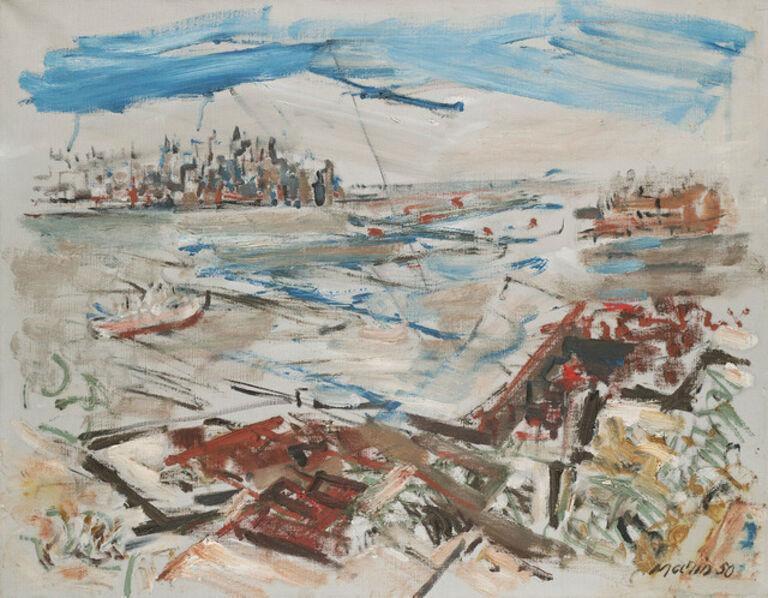 John Marin (1870-1953), 'New York Series: From Weehawken Heights', 1950