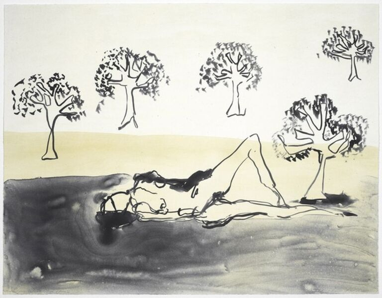 Tracey Emin, 'Laying with the Olive Trees', 2011