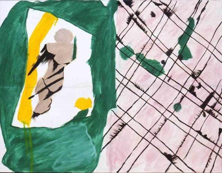 John Meredith, 'Green and Pink', 1980