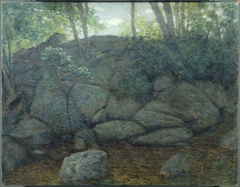 Julian Alden Weir, 'Woodland Rocks', 1910-1919