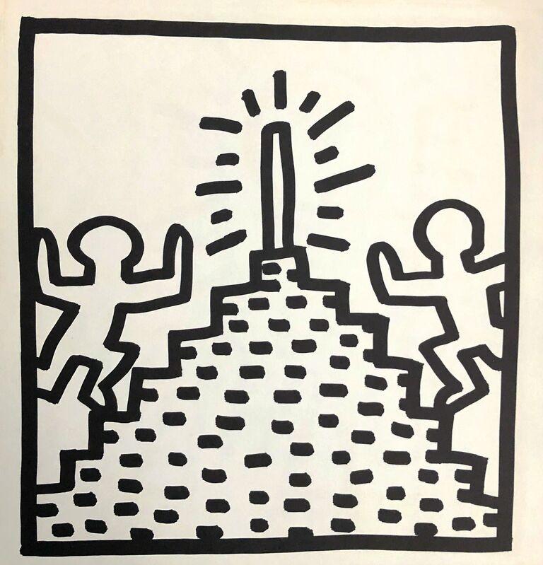 Keith Haring, 'Keith Haring (untitled) Pyramid lithograph 1982', 1982, Print, Offset lithograph, Lot 180