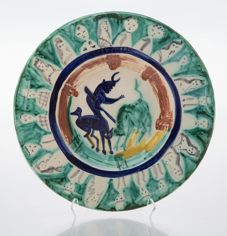 Pablo Picasso, 'Corrida aux personnages', 1950, Design/Decorative Art, Terre de faïence dish with glazing and hand painting, Heritage Auctions