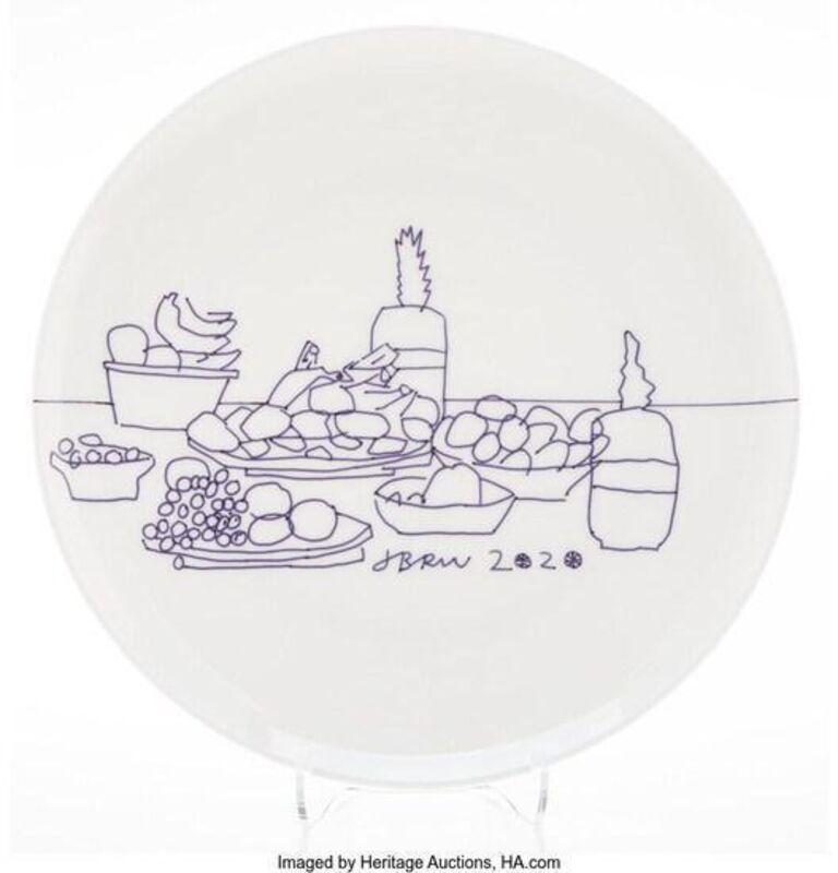 Jonas Wood, 'Fruit Plate', 2020, Other, Bone china plate accompanied by presentation box, artrepublic